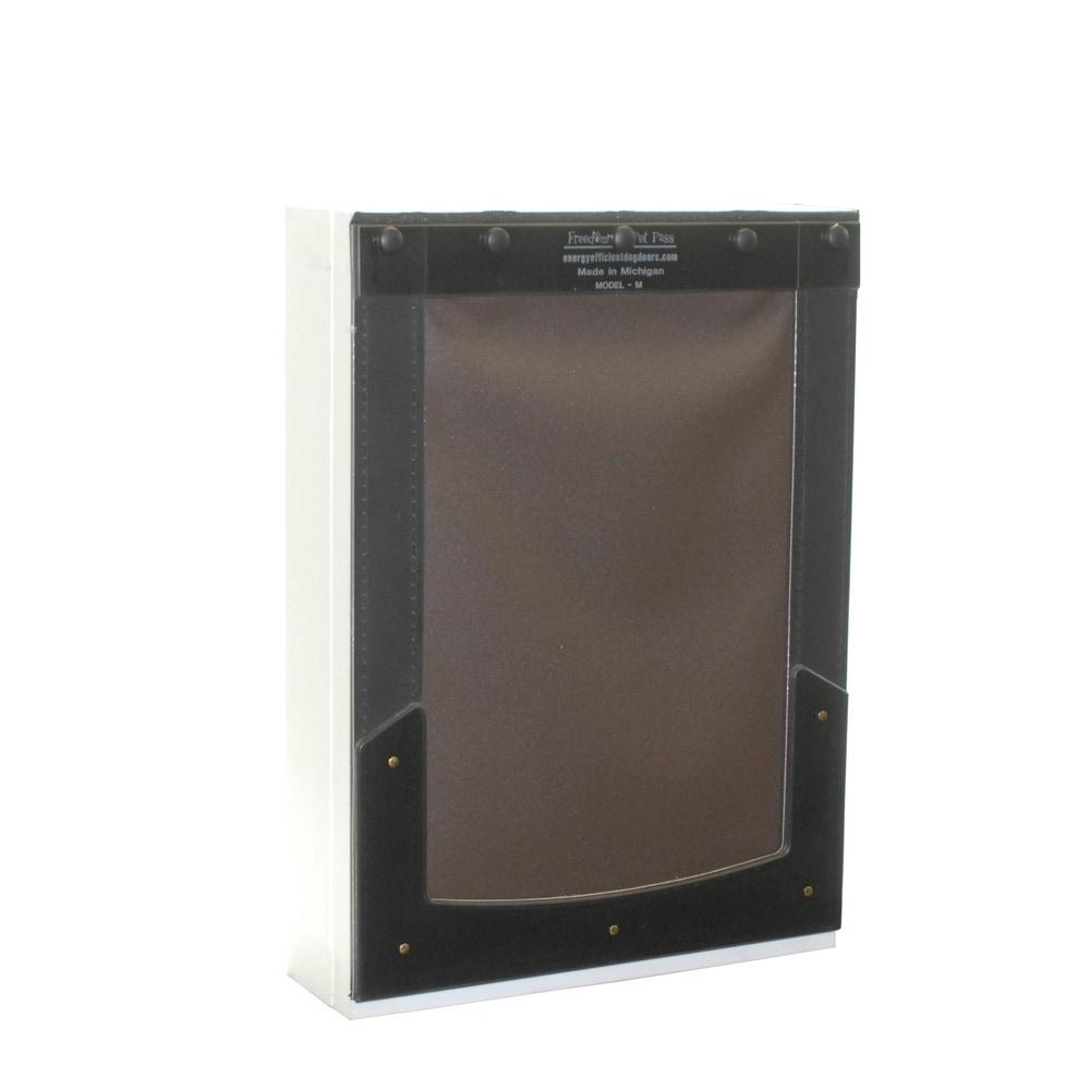 medium_wall_exterior_5935be7a1b45d  sc 1 st  BuildDirect & Battic Door Freedom Pet Pass 9 in. L x 13 in. W Wall Mount Pet Door ...