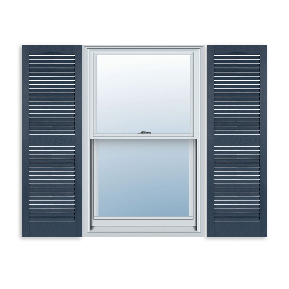 Exterior Solutions Standard Louver Exterior Vinyl Window