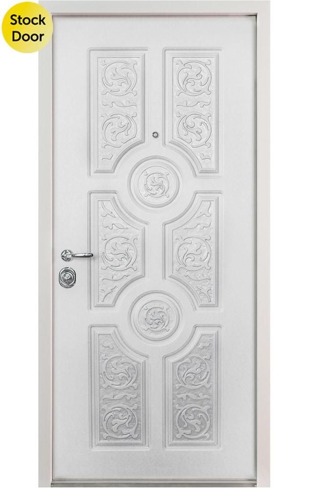 Novo Porte Versace Entry Door White 36 X 80 Right Hand Inswing