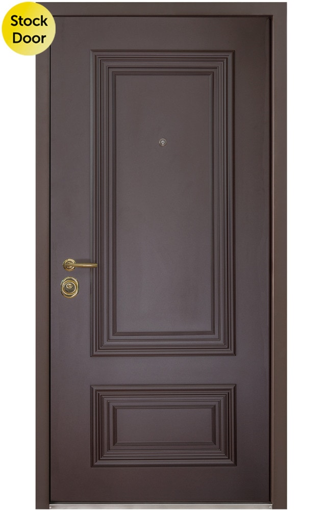 Novo Porte Polo Steel Entry Door Out Dark Brown In Ivory 36 X