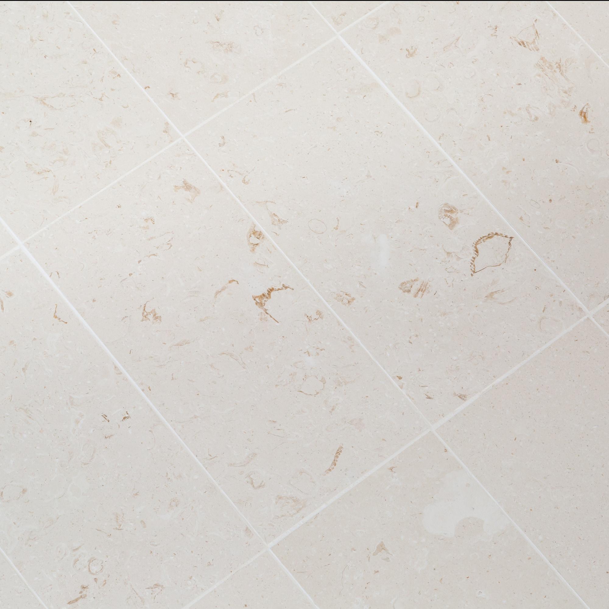 "Myra White / 12""x24"" / Brushed Limestone Tile - Aegean Collection 0"