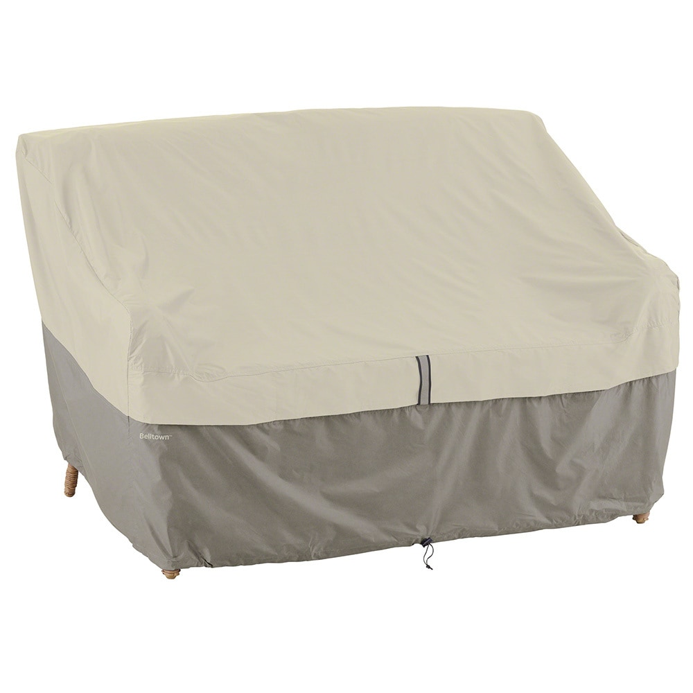 Classic Accessories Belltown Patio Sofa And Bench Covers Loveseat Cover Gray Small