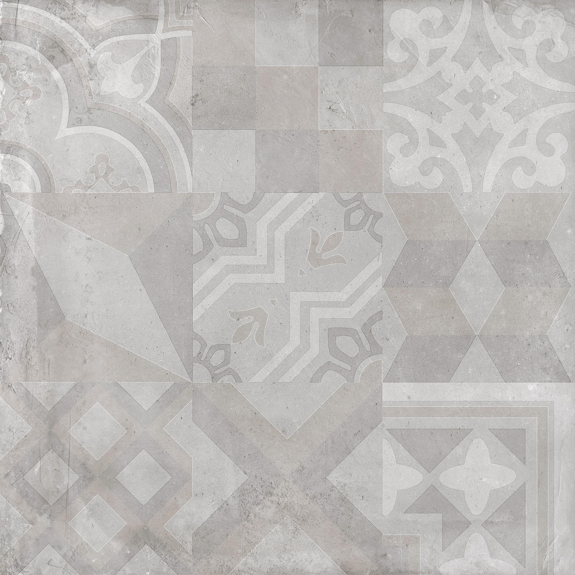 """Dust / 24""""x24"""" - Deco / Matte Porcelain Tile - Urban Concrete 0"""