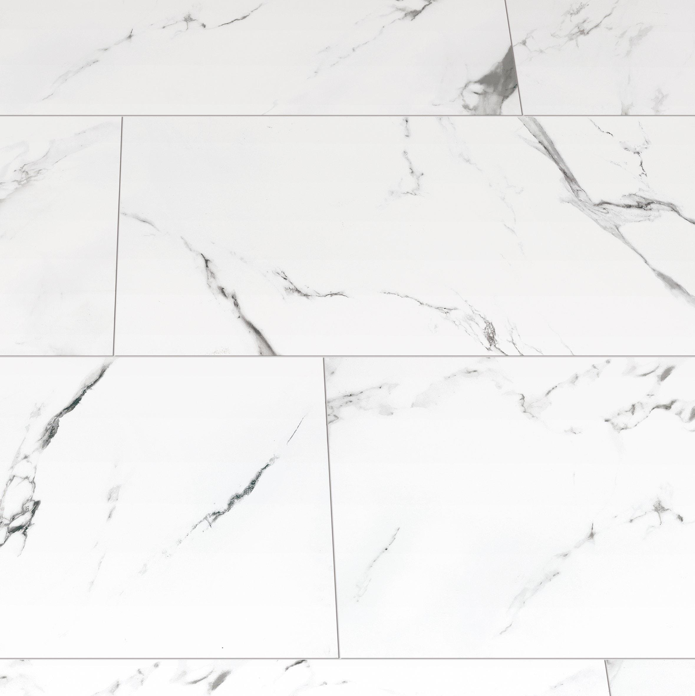 "Statuario Extra / 24""x48"" / Polished Porcelain Tile - Statuario Marble 0"