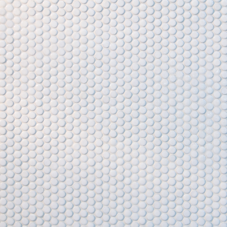 White, small circles / Glossy and Matte Porcelain Circle Mosaics 0
