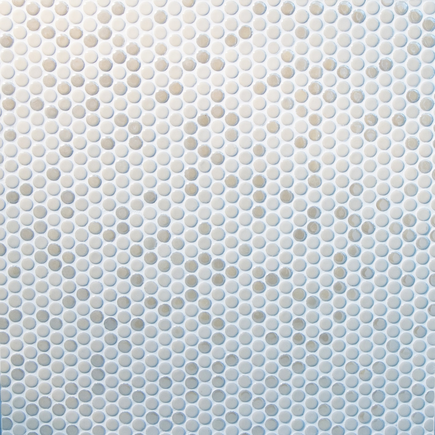 Light and dark beige, small circles / Glossy and Matte Porcelain Circle Mosaics 0