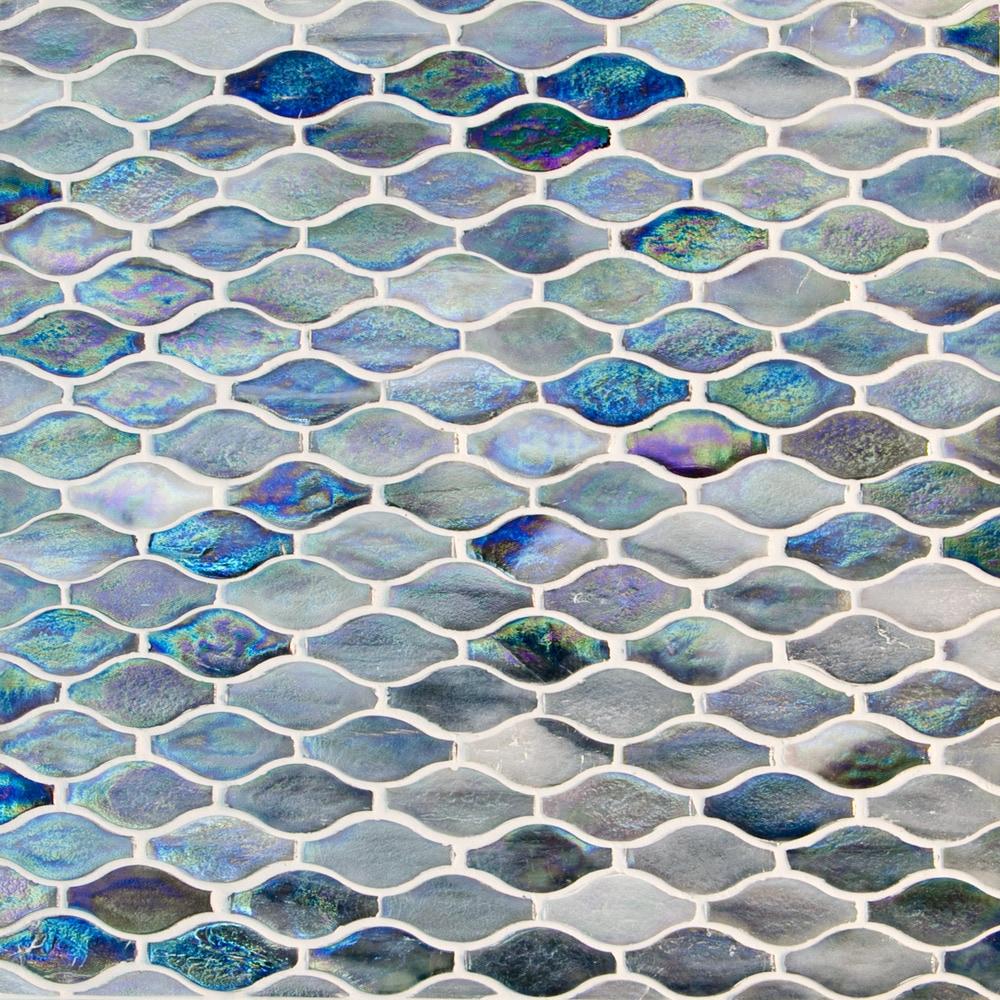 GL Stone & Tile Arabesque Pattern Glass Mosaics Blue Violet ...