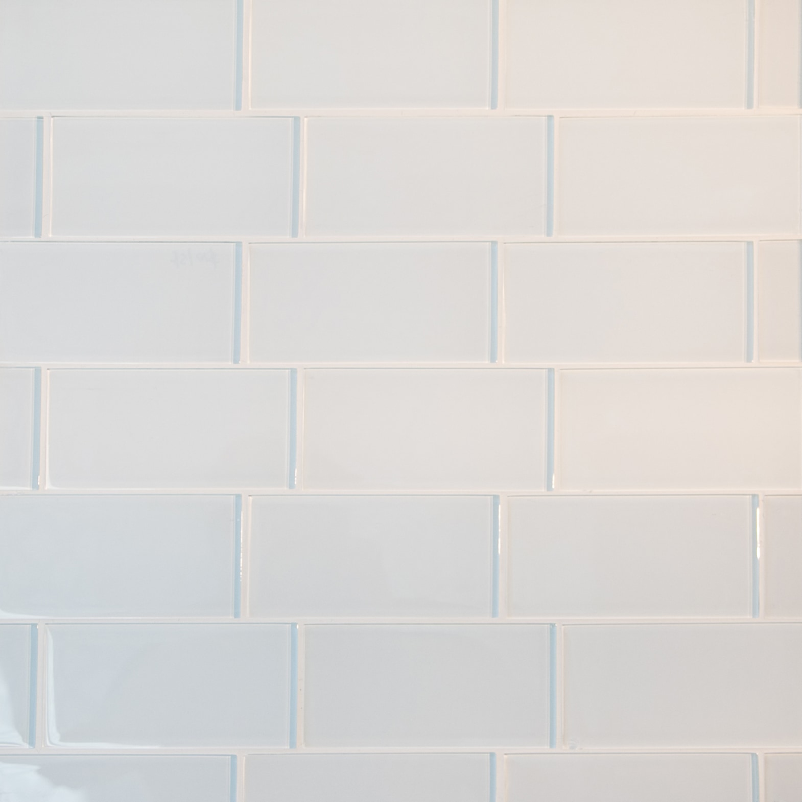 """White / 3""""x6"""" 3 x 6 Glass Subway Tiles 0"""