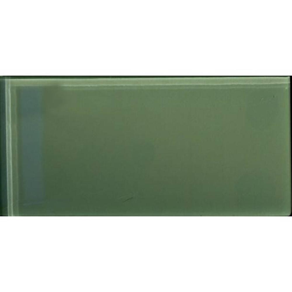 """Moss Green / 3""""x6"""" 3 x 6 Glass Subway Tiles 0"""