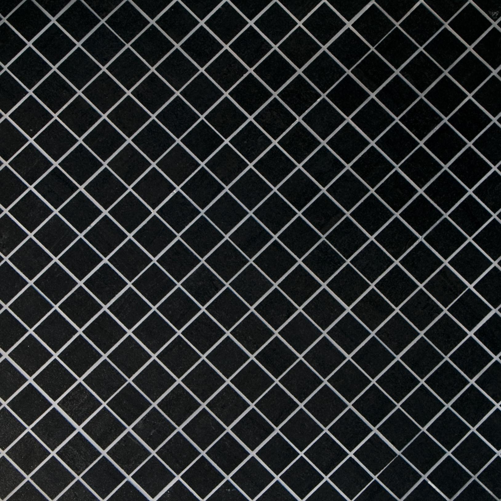 """Black / 1.3""""x1.3"""" / Semi Polished Square Pattern Porcelain Mosaics 0"""