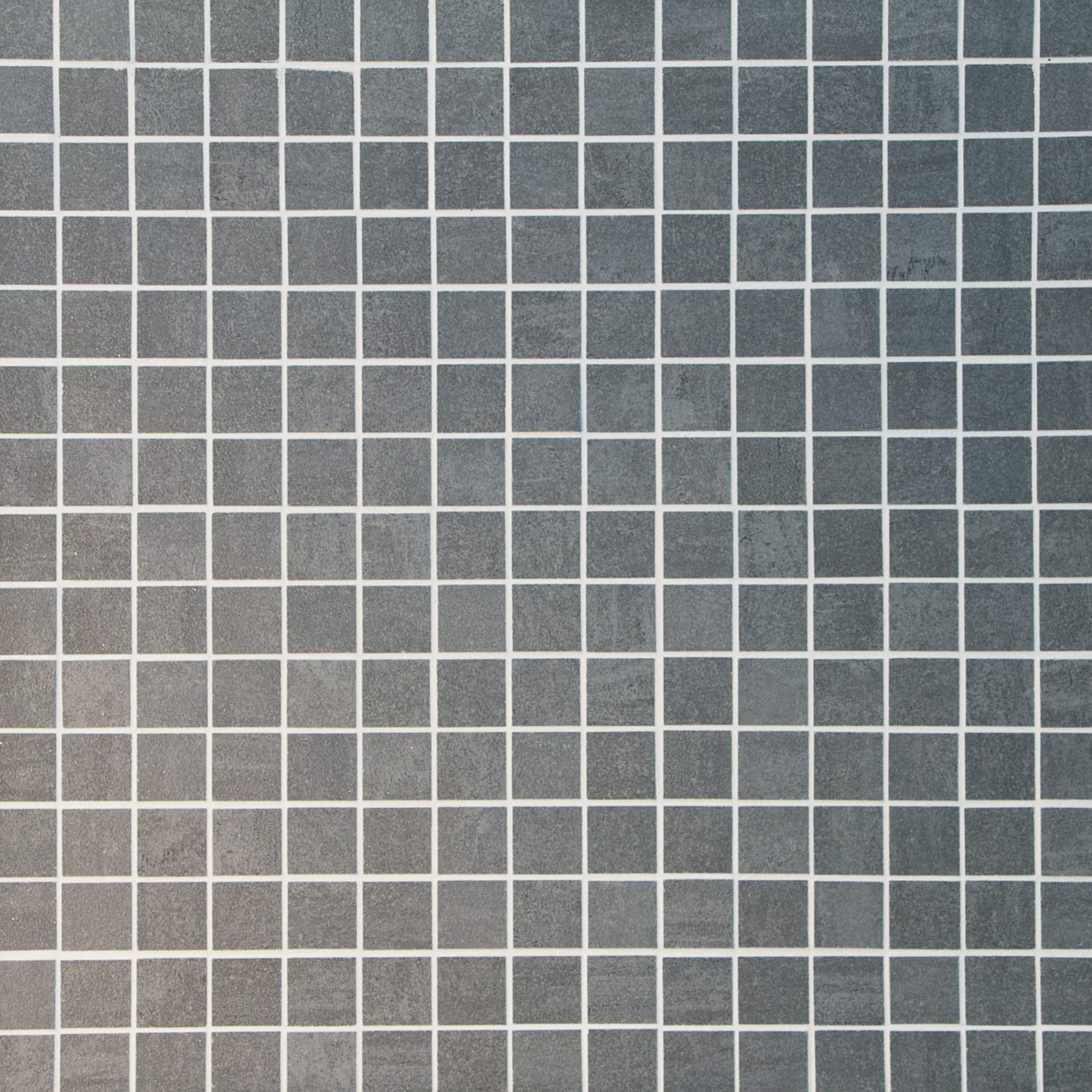 "Silver / 1.3""x1.3"" / Semi Polished Square Pattern Porcelain Mosaics 0"