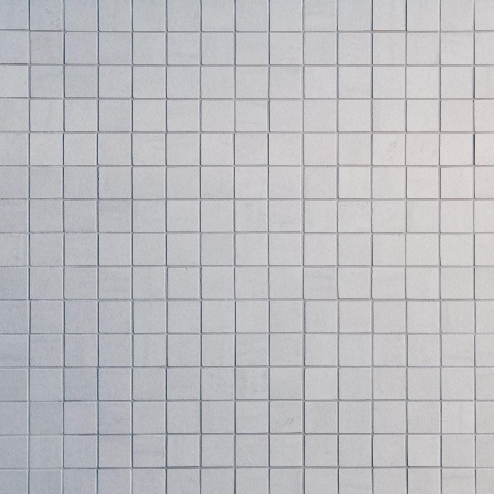 """White / 1.3""""x1.3"""" / Semi Polished Square Pattern Porcelain Mosaics 0"""