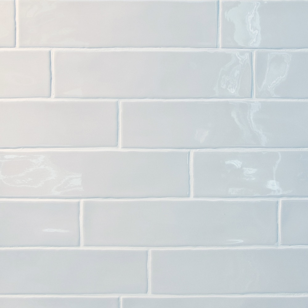 Gl Stone Tile Rippled Edge Porcelain Subway Tiles White 3x12