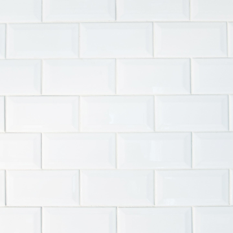 "White / 3""x6"" / Glossy Ceramic Subway Tiles 0"