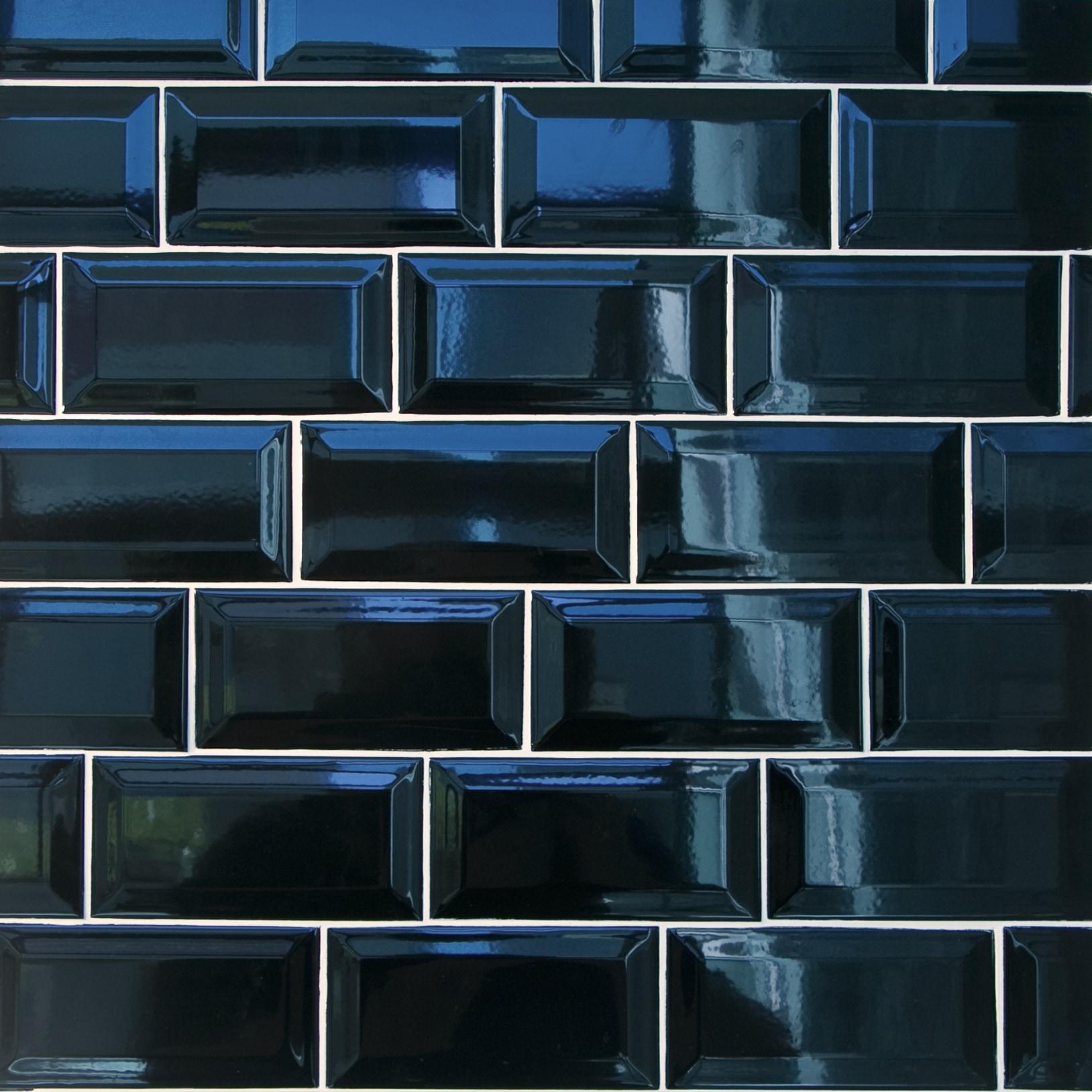 "Black / 3""x6"" / Glossy Ceramic Subway Tiles 0"