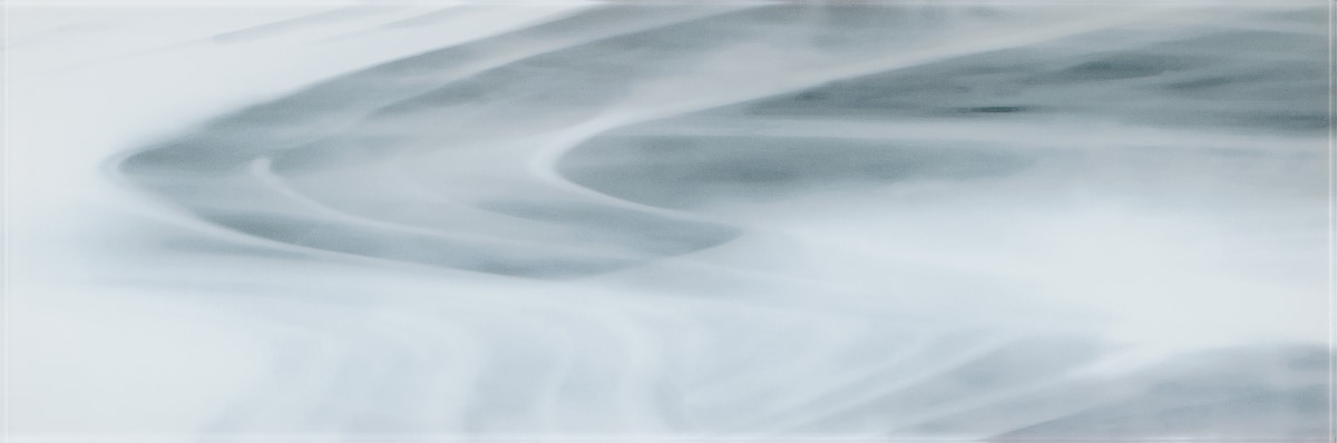 """White and Gray Swirl A / 30""""x10"""" Specialty Colored Glass Tile 0"""