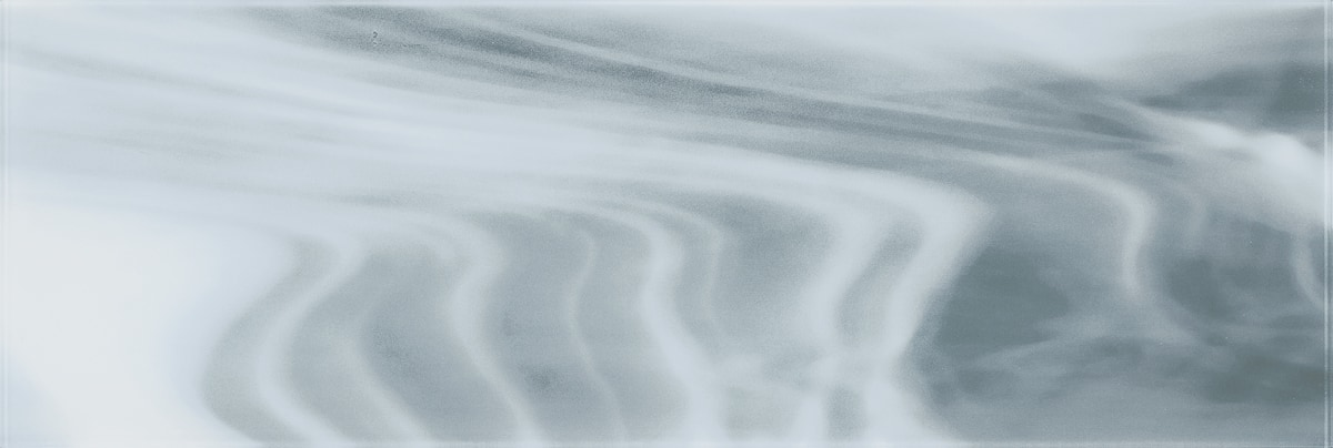 """White and Gray Swirl C / 30""""x10"""" Specialty Colored Glass Tile 0"""