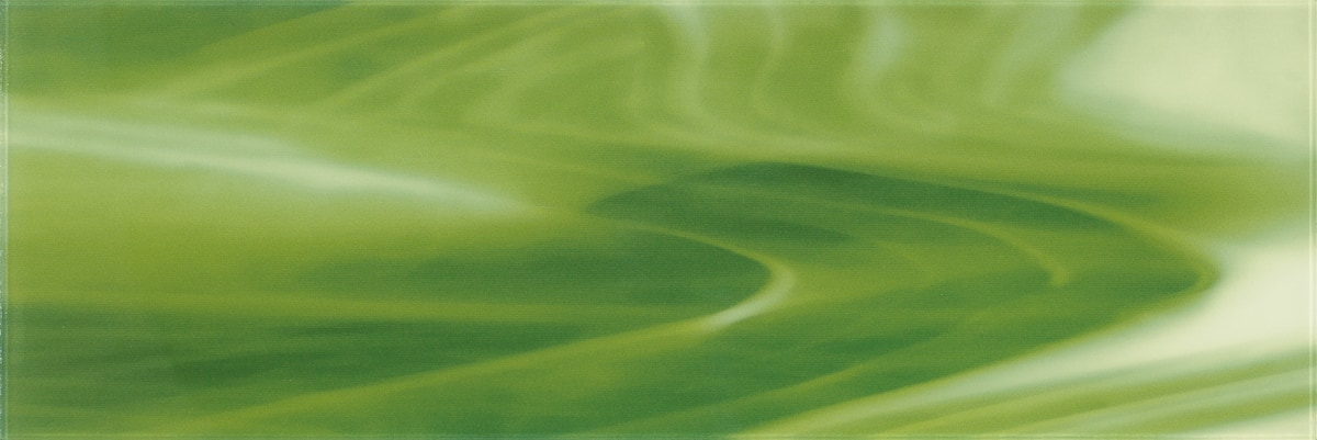 """Light and Dark Green A / 30""""x10"""" Specialty Colored Glass Tile 0"""