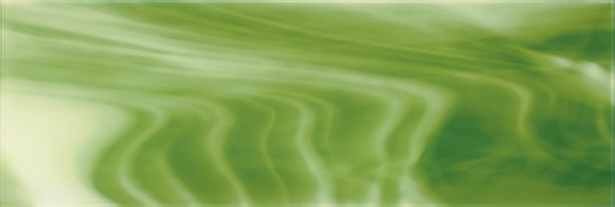 """Light and Dark Green C / 30""""x10"""" Specialty Colored Glass Tile 0"""