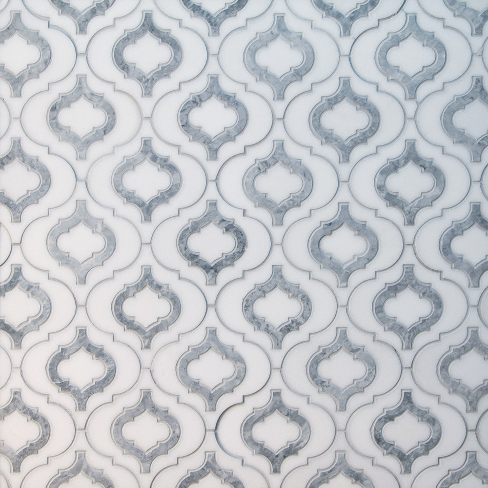 Gl Stone Amp Tile Water Jet Cut Marble Mosaics White And