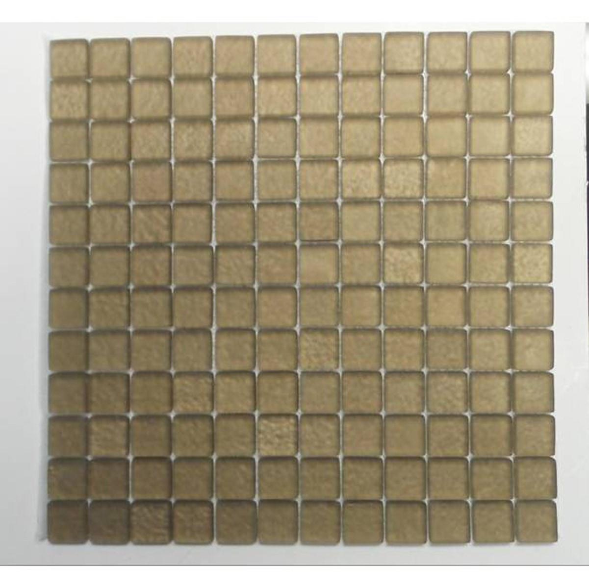 "Honey Beige / 1""x1"" Square Pattern Glass Mosaics 0"