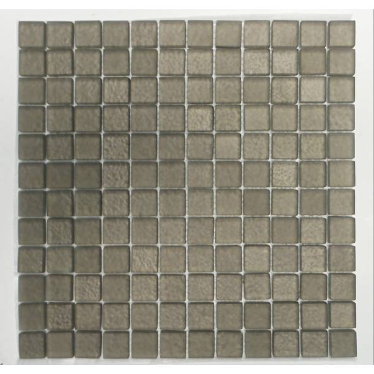"Brown Beige / 1""x1"" Square Pattern Glass Mosaics 0"