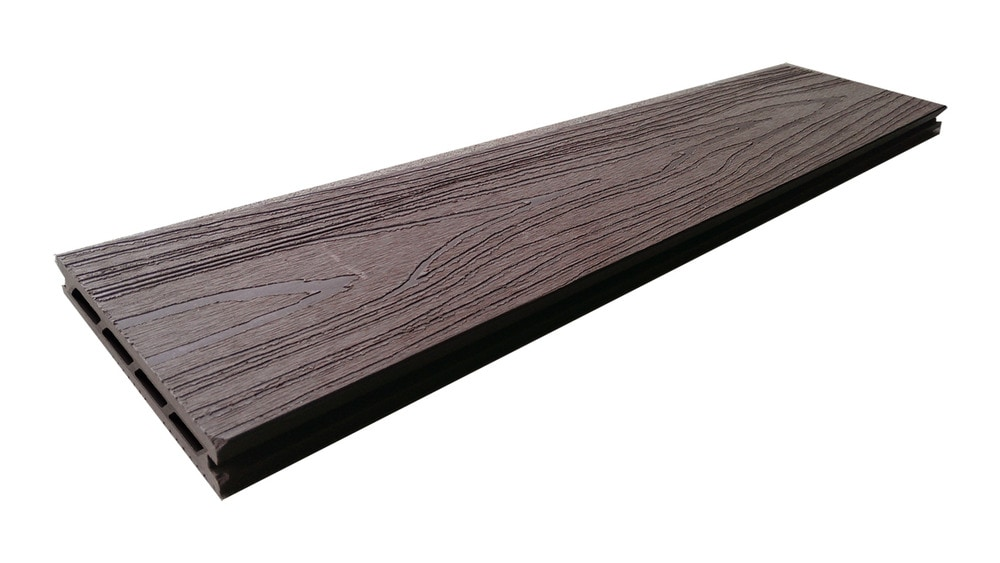 Century home living chl walnut brown hollow deck board 12 for Non wood decking boards