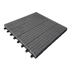 Kontiki Composite Interlocking Deck Tiles    Classic 25 Year   Gray Concret  .