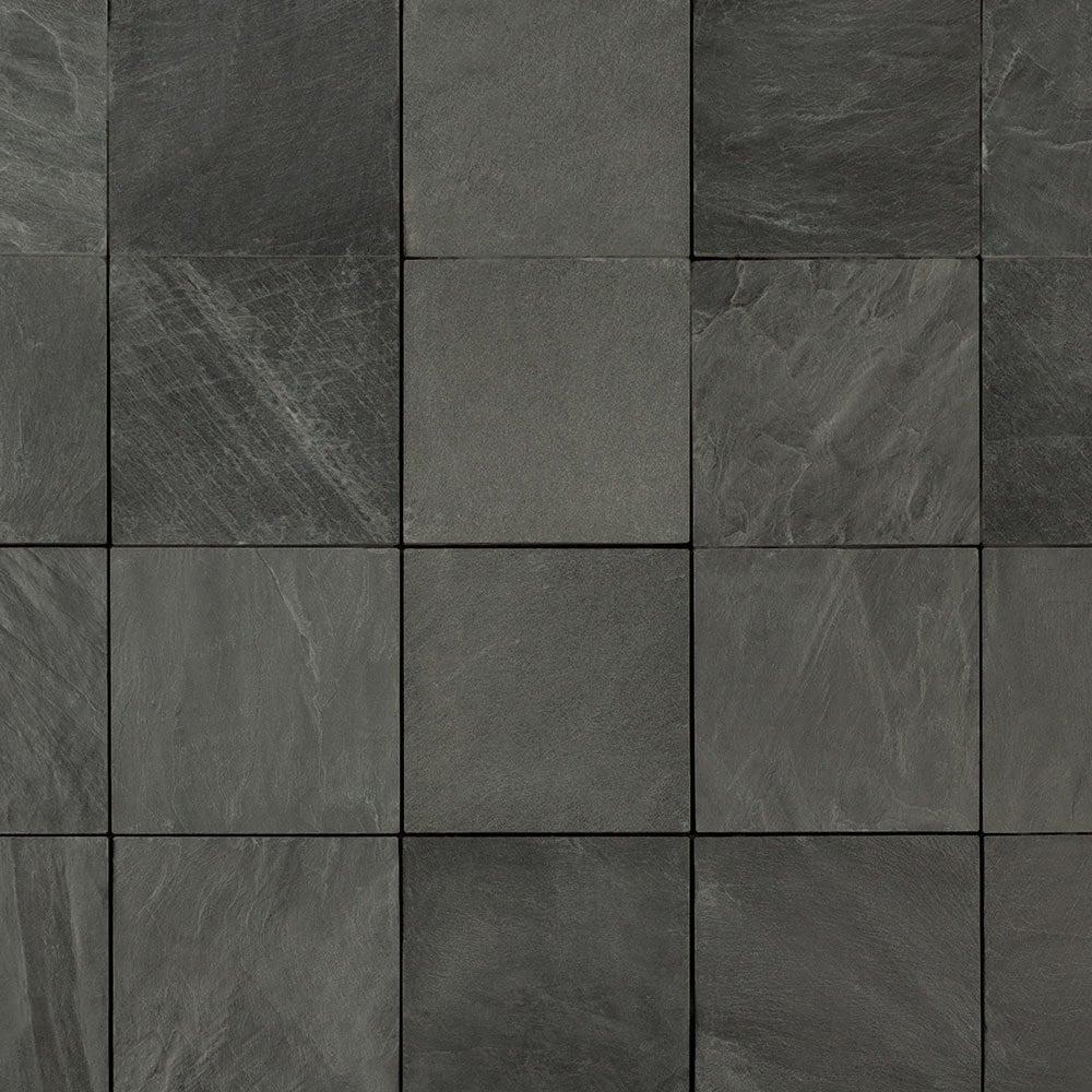 "Slate / 12""x12""x1"" / Slab Interlocking Deck Tiles - Elements Earth Series 0"