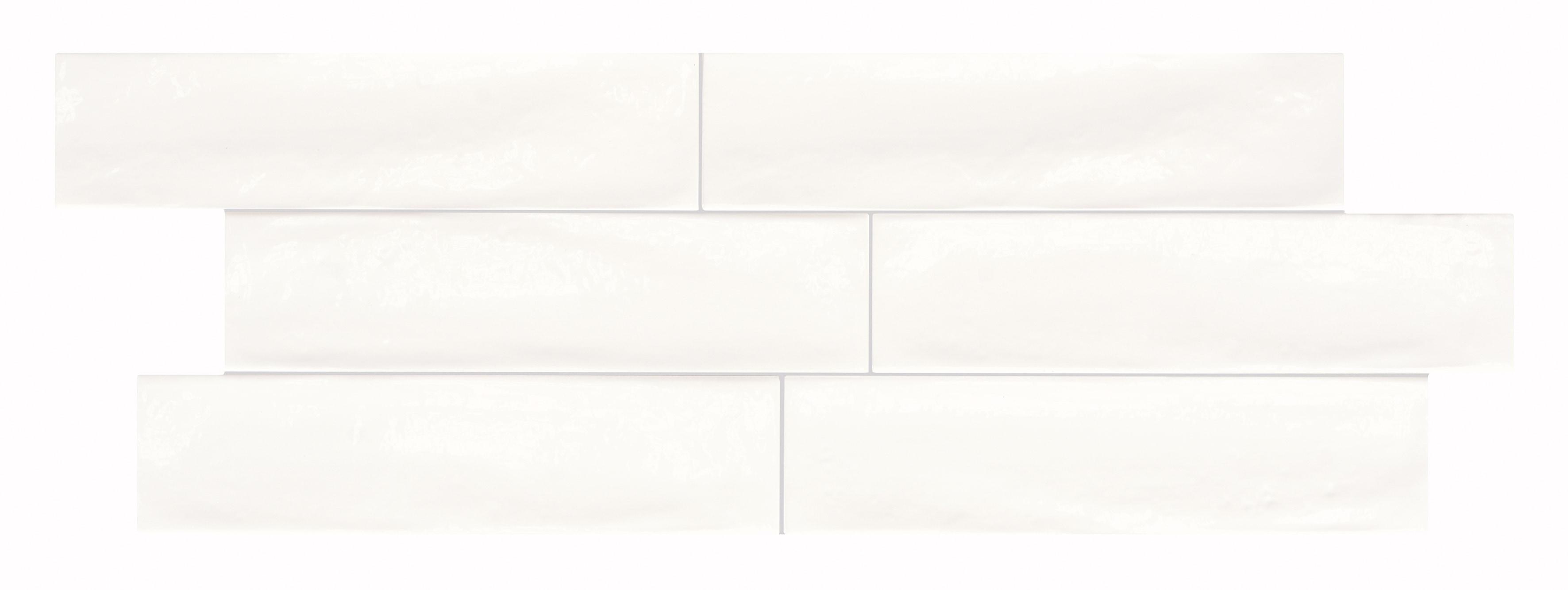 "White / 3""x12"" / Glossy Italian Ceramic Tile - Granville Subway Wall 0"
