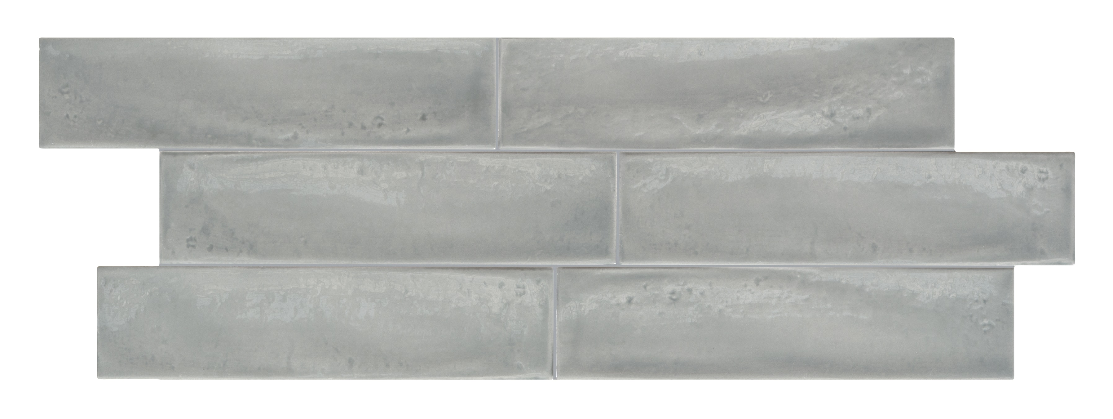 "Grey / 3""x12"" / Glossy Italian Ceramic Tile - Granville Subway Wall 0"