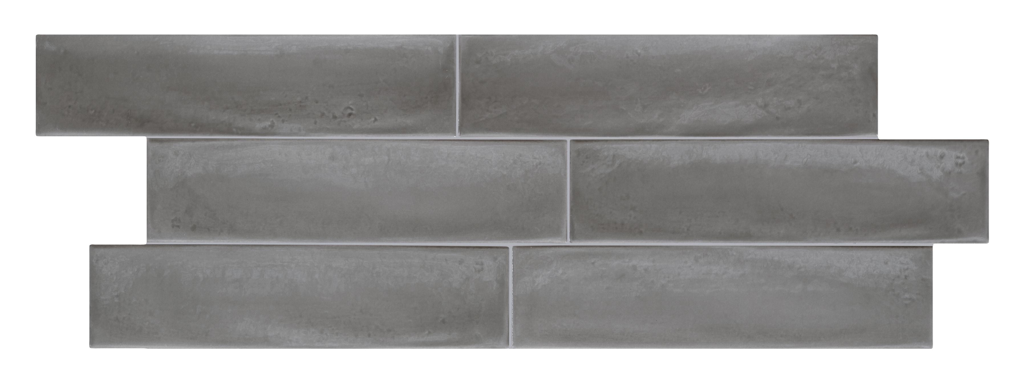 Torino Italian Ceramic Tile Granville Subway Wall Ash 3x12