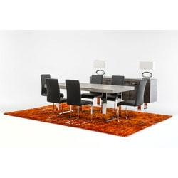 VIG Furniture Modrest Lola Modern Grey Brush Dining Table