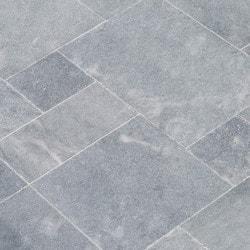 Kesir Blue Stone French Pattern Set Marble Tile - Sandblasted Soft Edge