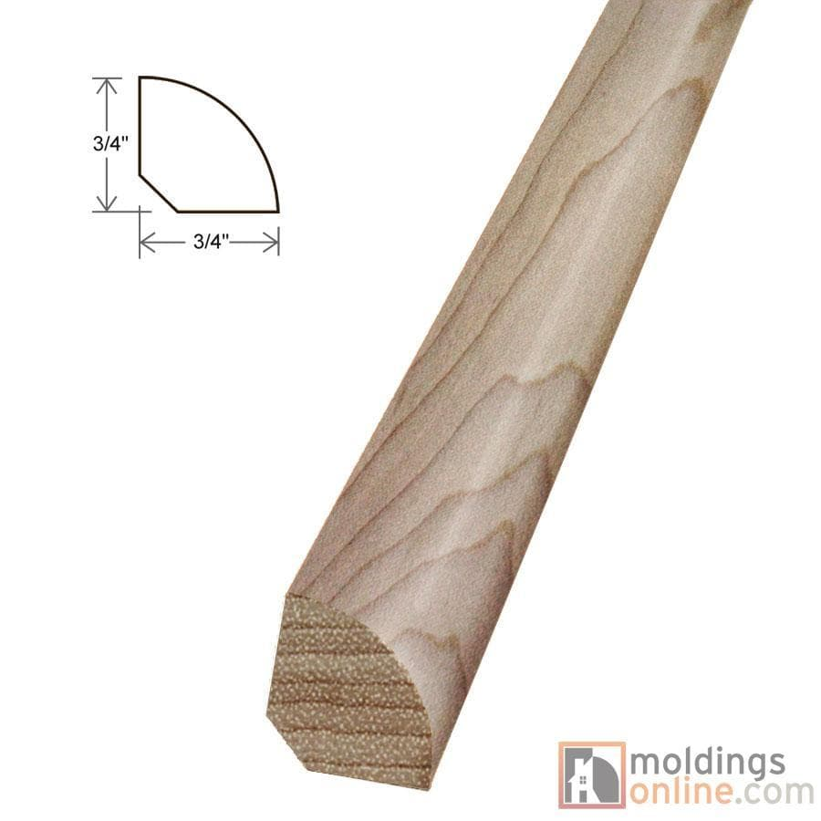 "Butternut / Quarter Round / 94"" x 3/4"" x 3/4"" Engineered Hardwood Moldings - Smooth Harvest - Butternut 0"