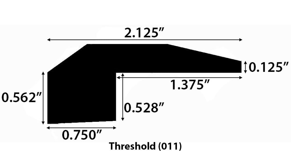 """Grey Wash / Threshold / 78"""" x 2 1/8"""" x 3/4"""" Engineered Hardwood Moldings - European Long Length - Grey Wash 0"""