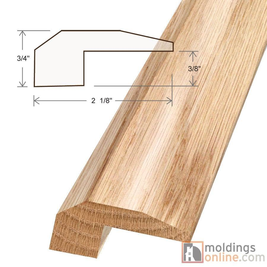 """Red Oak / Threshold / 78"""" x 2 1/8"""" x 7/8"""" / Low-Gloss Red Oak Moldings - Collection 0"""