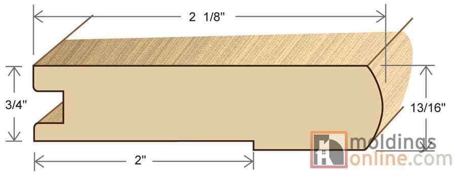 """Pine / Stair Nose / 48"""" x 3 1/8"""" x 3/4"""" / Semi-Gloss Pine Moldings - Collection 0"""