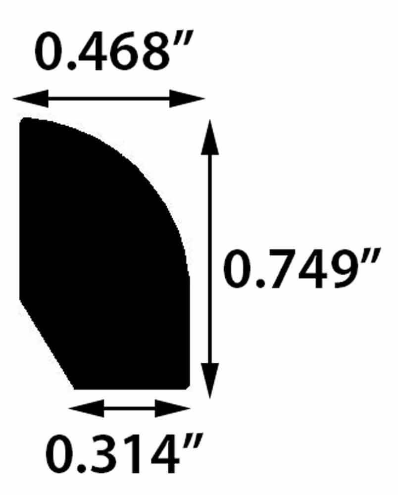 "Bahenol / Base Shoe / 94"" x 1/2"" x 3/4"" Engineered Hardwood Moldings - Oldtown European Oak - Bahenol 0"