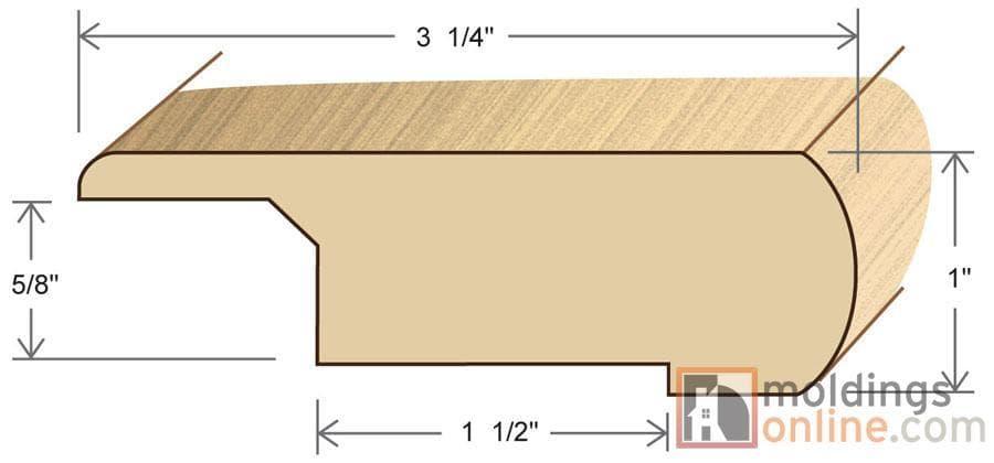 Tungston Engineered Hardwood Moldings Unfinished Oak