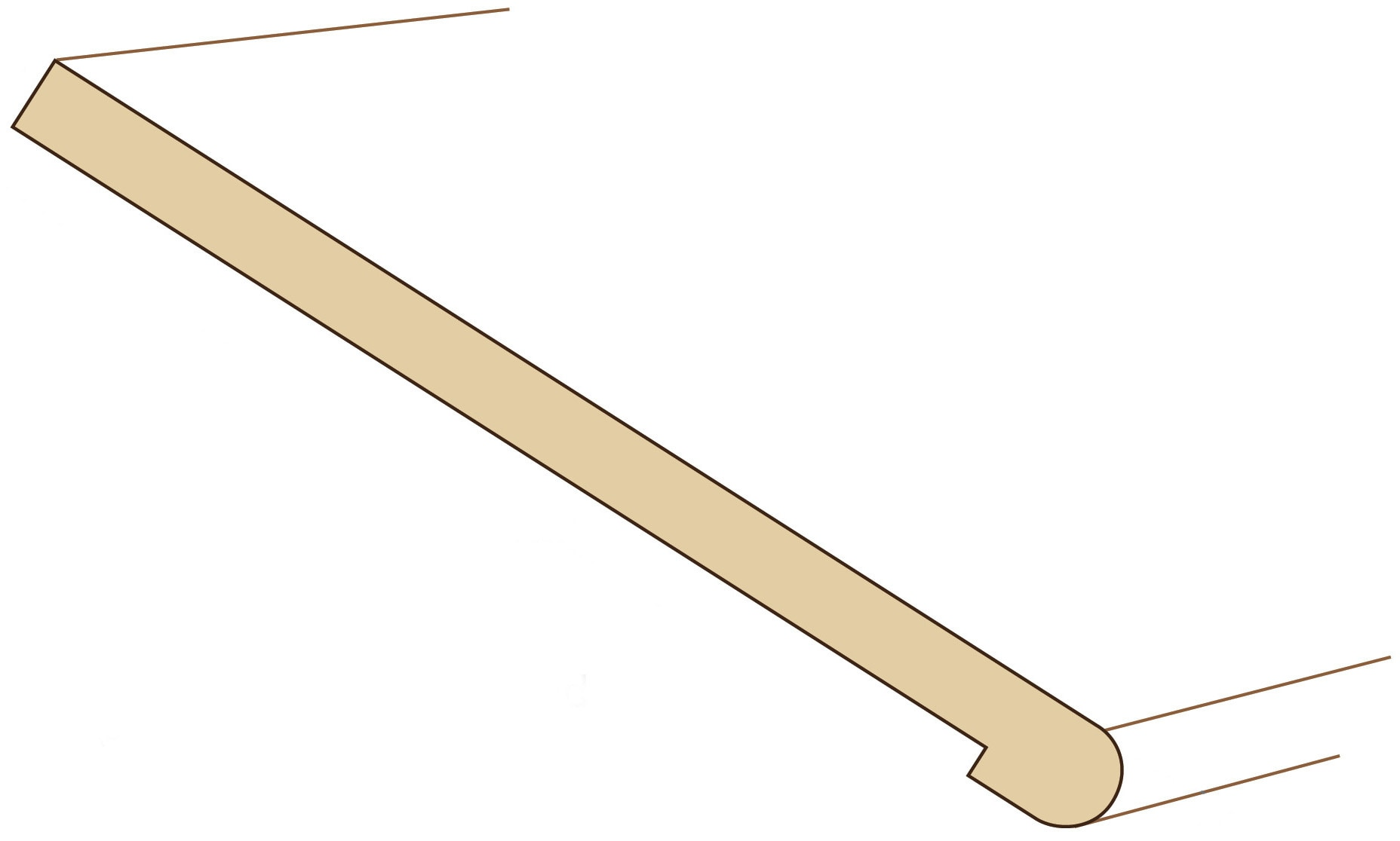 Robin / TREAD STANDARD NO RETURN 36 / 402 Engineered Hardwood Moldings - European Oak Whitewash 0