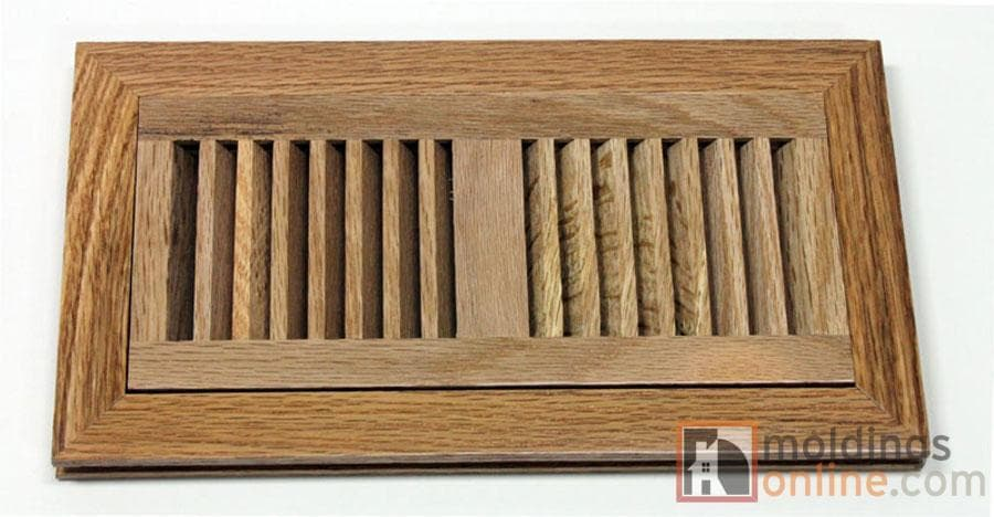 """Red Oak / Vent - Flush Mount / 10"""" x 4"""" x 1"""" / Low-Gloss Red Oak Vents - Collection 0"""