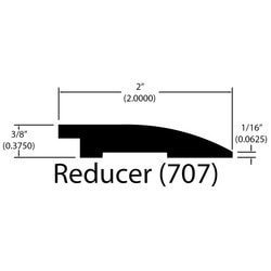 "Engineered Hardwood Moldings - LongHorn - Kerry - Kerry / Flush Reducer / 78"" x 2"" x 3/8"""
