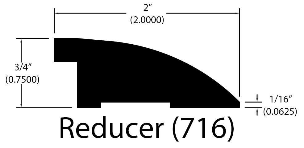 """Rupert Maple / Flush Reducer / 78"""" x 2"""" x 3/4"""" Hardwood Moldings - Foundation - Rupert Maple 0"""