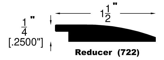 """Ivory Fog / Flush Reducer / 78"""" x 1-1/2"""" x 1/4"""" Engineered Hardwood Moldings - Robin Ridge SPC - Ivory Fog 0"""