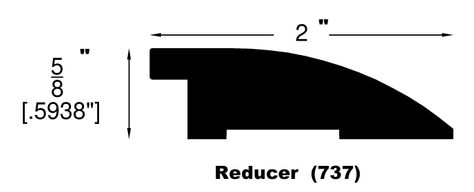 "Cantika / Flush Reducer / 78"" x 2"" x 5/8"" Engineered Hardwood Moldings - Oldtown European Oak - Cantika 0"