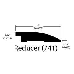 "Engineered Hardwood Moldings - Harbor Hickory Distressed - Venice - Venice / Flush Reducer / 78"" x 2"" x 7/16"""