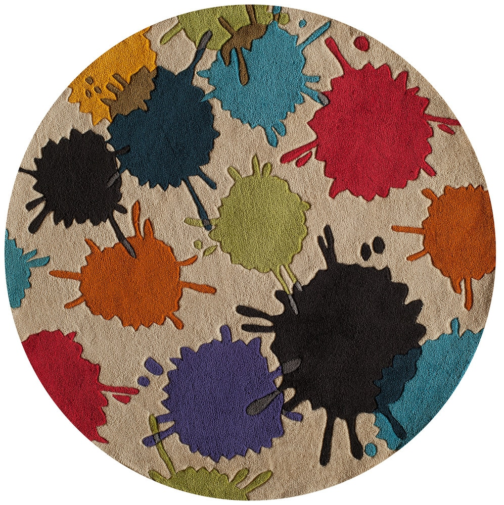 Momeni lmotwlmt 9ivy lil mo hipster collection in ivory for Round rugs for kids