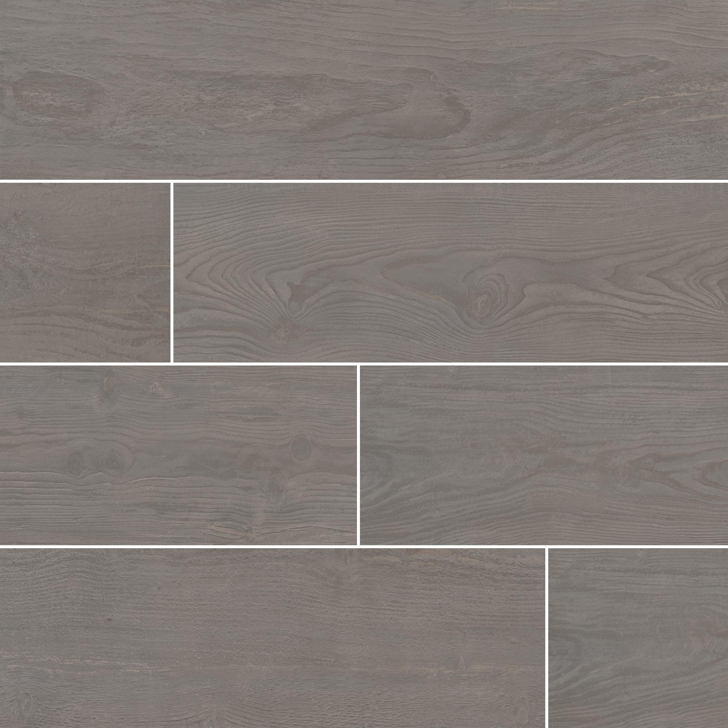 """Ash / 8""""x47"""" / Matte Porcelain Tile - Volcanic Series 0"""