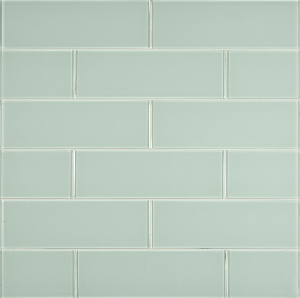 """Arctic Ice 8mm / 4""""x12"""" / Glossy Glass Mosaic - Arctic Ice Collection 0"""